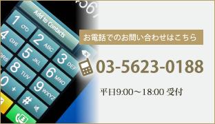 お電話でのお問合せはこちらTEL:03-5623-0188
